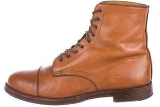 Co RRL & Leather Combat Boots