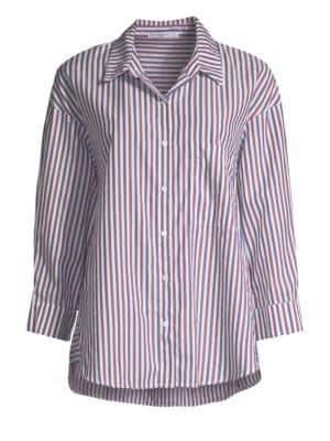 Stateside Striped Oxford Button-Down Shirt