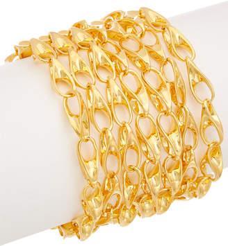 Robert Lee Morris Collection Plated Seven Row Link Bracelet
