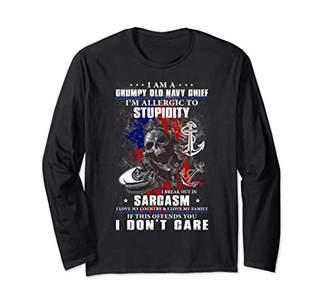 Old Navy I Am A Grumpy Chief Long Sleeve Shirt
