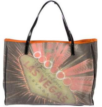 Anya Hindmarch Leather -Trimmed Printed Tote