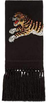 Gucci Crystal tiger wool cashmere scarf