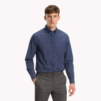 7312cc63f Tommy Hilfiger Blue Poplin Men s Shirts - ShopStyle