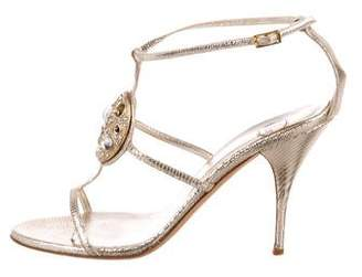 Norton Co. Mary Embellished Metallic Sandals