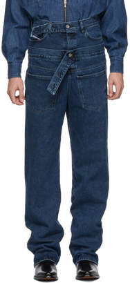 Diesel Red Tag Blue Shayne Oliver Edition Embedded Belt Jeans