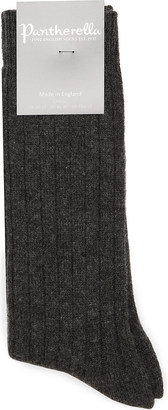 Pantherella Ribbed cashmere-blend socks $40.50 thestylecure.com