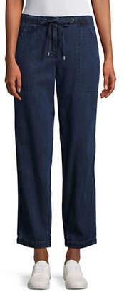 Eileen Fisher Relaxed Drawstring Denim Pants