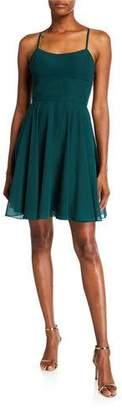 Faviana Strappy-Back Chiffon Dress