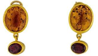 Yossi Harari 24K Citrine & Garnet Earrings
