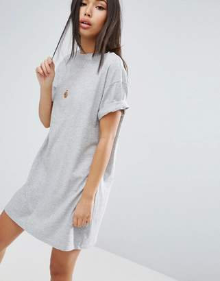 Asos Design DESIGN ultimate t-shirt dress with rolled sleeves