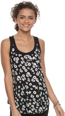 Candies Juniors' Candie's Print Mixed-Media Tank