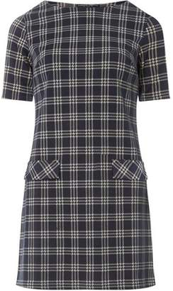 Dorothy Perkins Womens Navy Camel Checked Tunic