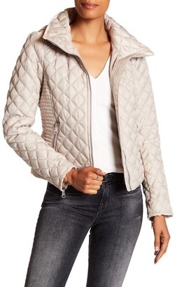 Andrew Marc Charlie Stowable Hood Quilted Jacket $89 thestylecure.com