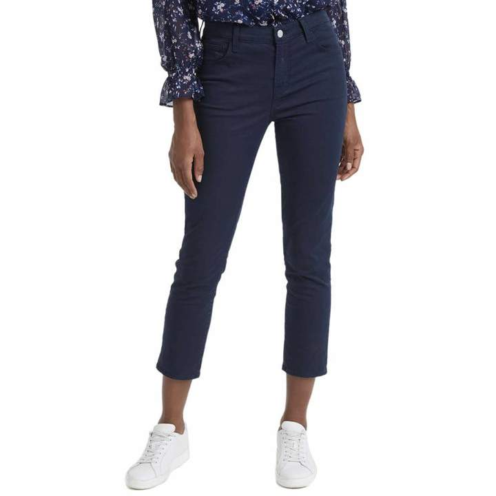 Navy Ruby Cropped Cigarette Stretch Jeans