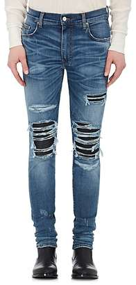 AMIRI Men's MX1 Leather-Inset Skinny Jeans $1,040 thestylecure.com