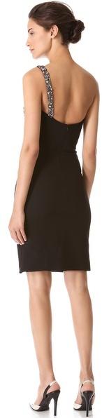 Reem Acra Strapless Crepe Dress