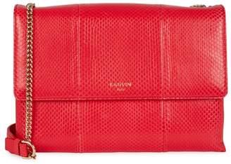 Lanvin Sugar Red Python Shoulder Bag