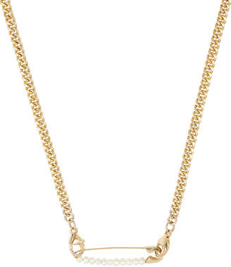 Loren Stewart Safety Pin Curb Chain Necklace