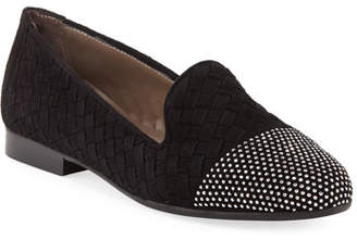 Sesto Meucci Norrie Embellished Woven Loafer