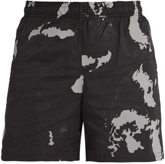 BLACKBARRETT by NEIL BARRETT Globe-print shell shorts