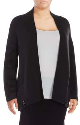 Akris Side-Zip Cashmere Cardigan