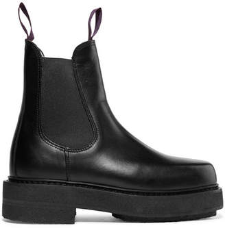 Eytys Ortega Leather Platform Boots - Black