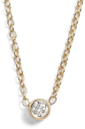 Chicco Zoe Diamond Bezel Pendant Necklace