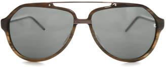 Raf Simons Marble Aviator Sunglasses $300 thestylecure.com