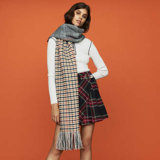 Maje Knit scarf in plaid mix