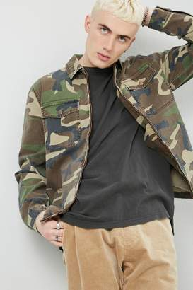 Forever 21 Camo Zip-Front Shirt