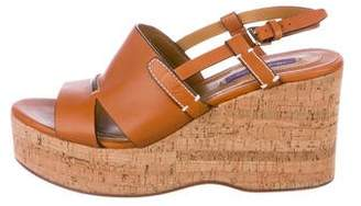 Ralph Lauren Purple Label Leather Platform Wedges