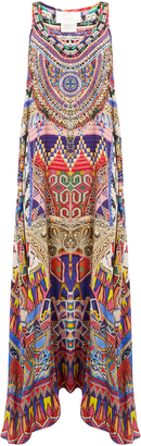 CAMILLA Dream Weavers-print silk crepe de Chine dress $476 thestylecure.com