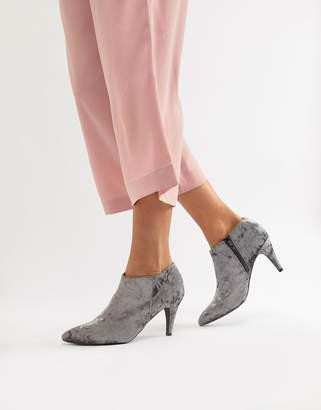 New Look velvet shoe boots