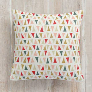 Triangle Traipse Square Pillow