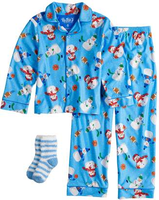 Buffalo David Bitton Up Late Boys 4-10 Up-Late Pajamas & Socks Set