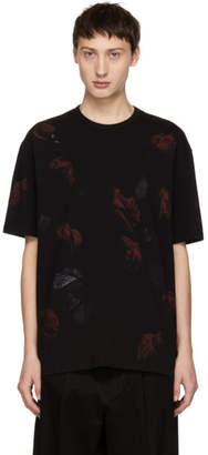 Lad Musician Black and Red Rose T-Shirt