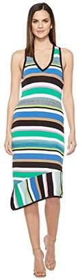 Laundry by Shelli Segal Women's V-Neck Asymmetrical Sweater Dress