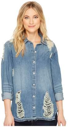 Joe's Jeans Vera Denim Shirt Women's Long Sleeve Button Up