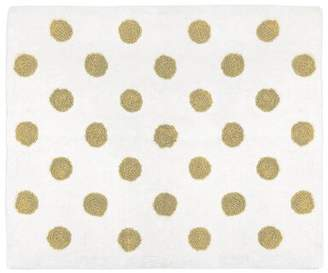JoJo Designs Sweet Watercolor Floral Hand-Tufted Cotton Gold/White Area Rug Sweet