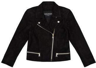 Balmain Suede Biker Jacket