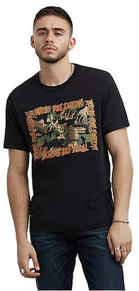 True Religion MENS CAMO BUDDHA GRAPHIC TEE
