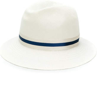 Loro Piana bucket hat with ribbon trimming