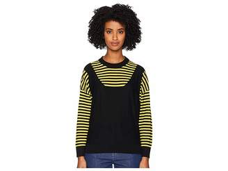 Sonia Rykiel Finewool Stripes Long Sleeve Sweater