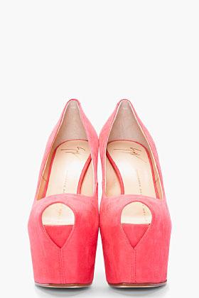 Giuseppe Zanotti pink peep-toe platform Liza heel