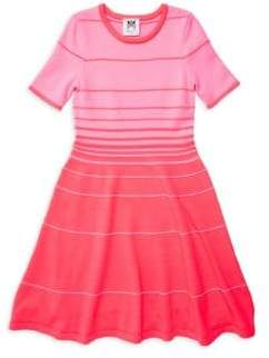 Milly Minis Little Girl's& Girl's Ombre Stripe Dress