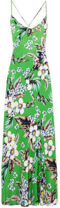 Diane von Furstenberg Floral-print Silk Crepe De Chine Maxi Dress - Green