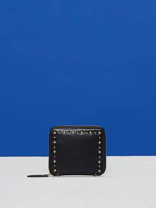 Diane von Furstenberg French Zip-Around Studded Wallet