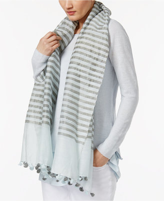 Eileen Fisher Striped Linen-Blend Wrap $138 thestylecure.com