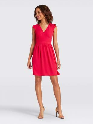 Draper James Flutter Sleeve Party Dress