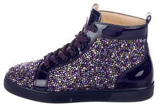 Christian Louboutin Louis Flat Pave Strass Sneakers
